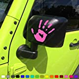 Skull Daddy Graphics Two Wave Stickers fits Jeep Wrangler JK TJ YJ CJ (x2) Decals Pair Left & Right (Pink)