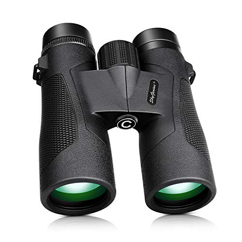 SkyGenius 10x42 Binoculars for Bird Watching, Antifog Waterproof Binoculars for Adults, Bak-4 Roof Prism Quick Focus HD Binoculars for Sporting Event Sightseeing with Strip