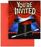 8x Einladungen und Umschläge * ZAUBEREI * für Kindergeburtstag und Motto-Party // zum Auffalten und Ausfüllen // Zauberer Kinder Geburtstag
