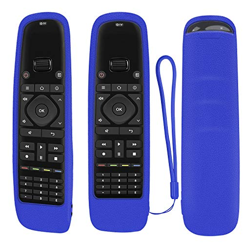 Funda protectora de silicona para mando a distancia universal Sofabaton U1, mando a distancia Bluetooth Harmony, a prueba de golpes, lavable, con lazo (azul)