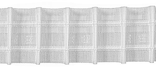 Ruther & Einenkel Bleistiftfalte 50 mm, 250% / Aufmachung 10 m, Polyester, weiß, 1000 x 5 x 0.2 cm