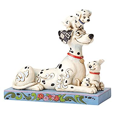 "Enesco Disney Traditions by Jim Shore ""101 Dalmatians"" 55th Anniversary Stone Resin Figurine, 6.25"""