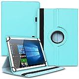 Tablet Hülle kompatibel für Xido Z120 Z110 X111 X110 Tasche Schutzhülle Hülle Cover aus Kunstleder Standfunktion 360° Drehbar, Farben:Türkis
