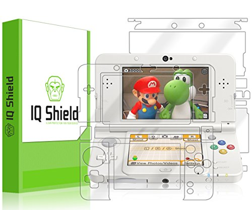 IQ Shield Full Body Skin Compatible with Nintendo 3DS (Standard Version, 2015) + LiQuidSkin Clear (Full Coverage) Screen Protector HD and Anti-Bubble Film