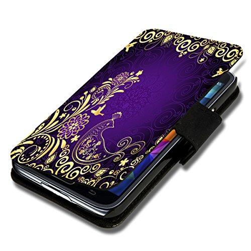 Book Style Flip Handy Tasche Hülle Schutz Hülle Schale Motiv Etui für Microsoft Lumia 532 - Flip X12 Design4