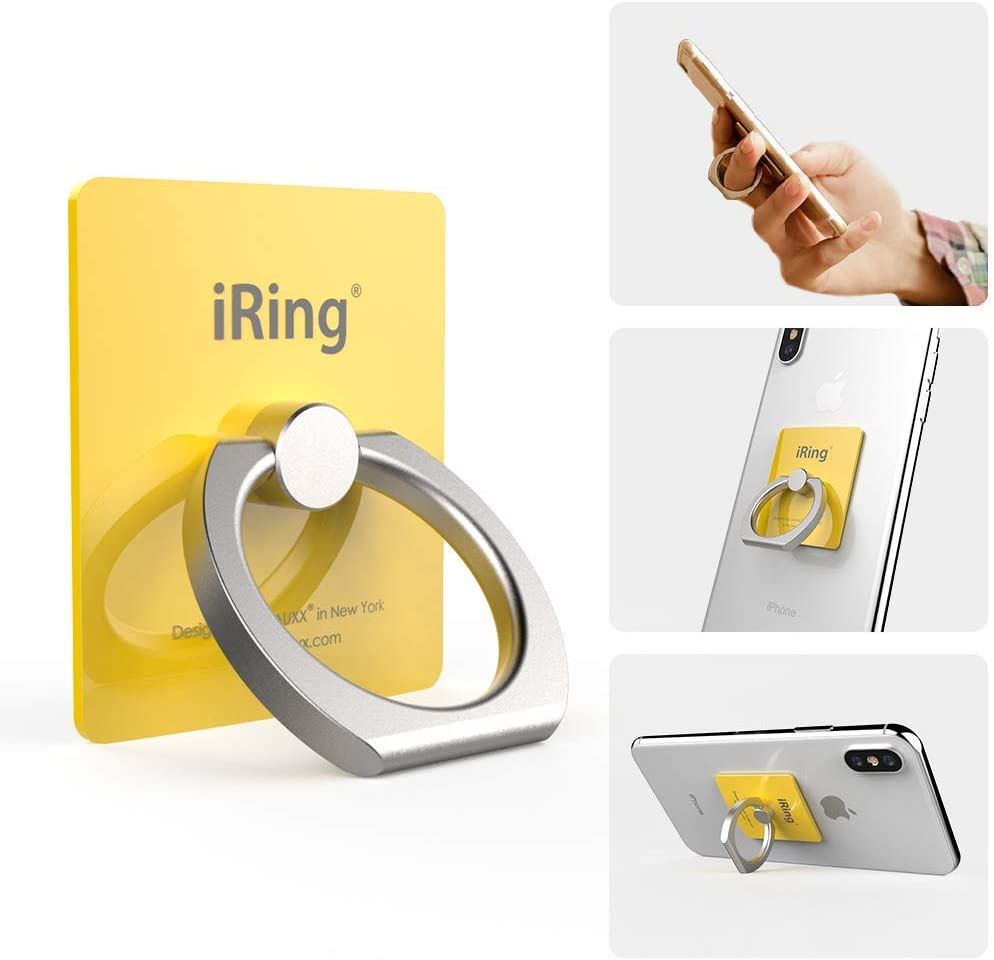 Samsung Mikado Yellow AAUXX iRing Cell Phone Ring Holder /& Finger Grip Ring Accessory Ring Stand Compatible with iPhone Other Android Smartphones and Tablets.