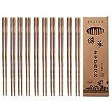 Palillos de madera, picar Stix, 10 pares de palillos chinos reutilizables...