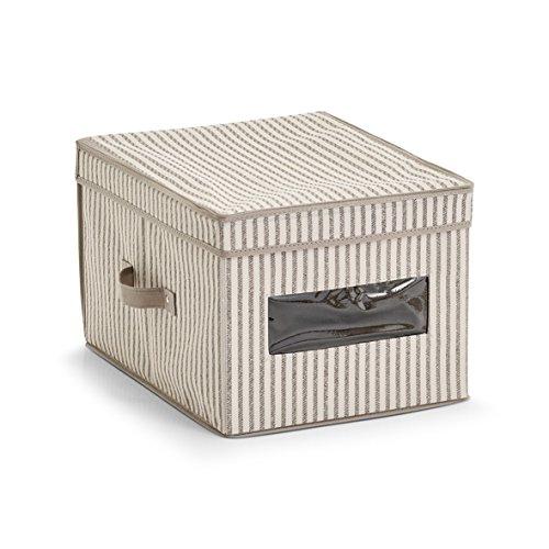 Zeller - Scatola portaoggetti, 30 x 39,5 x 25 cm, colore: Beige