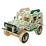 Unbekannt Puzle de madera para coche, manualidades, construcción para niños en 3 dimensiones.