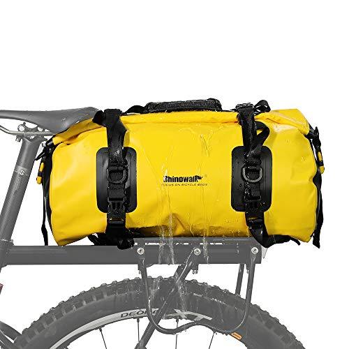 LKN - Alforjas para Bicicleta, Bolsa de Equipaje de Viaje-Amarillo