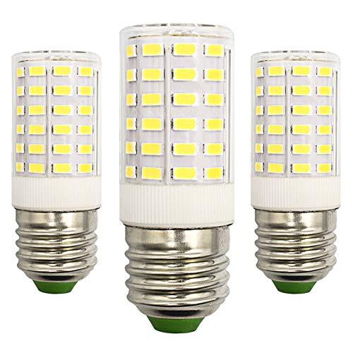 LED-Leuchtmittel, E27, Edison-Schraube, 9W, 6500K, Super Hell, Tageslichtweiß, 75W-100W, Halogen-Äquivalent 100V-265V, nicht dimmbar, 3 Stück