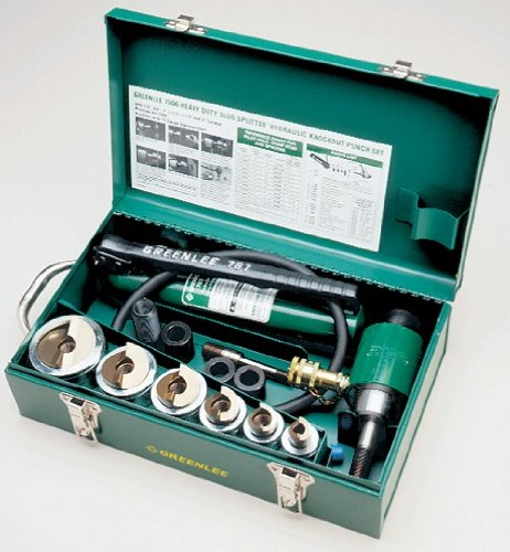 Greenlee 7506slug-splitter 4,17Knockout Punch Kit mit hydraulischer RAM und Pumpe