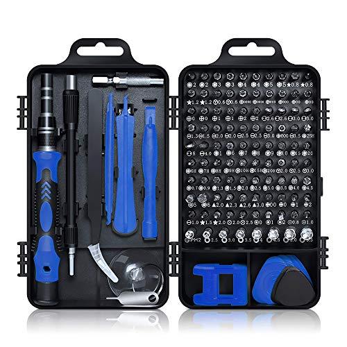 115-in-1 Schraubendreher Set, CestMall Multi-Präzisions-Bit-Satz, professionelles Reparaturwerkzeug mit Aufbewahrungsetui, für iPhone, Laptop, Armbanduhr, Brille, PS3 / PS4, andere Elektronik