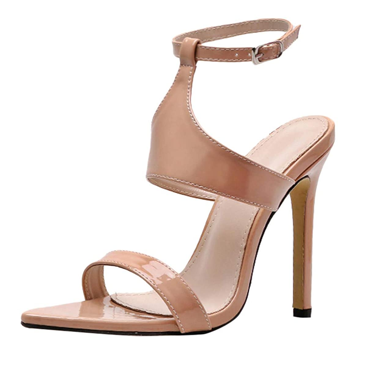 Tantisy ??? Women's Heeled Sandals Ankle Strap High Heels 11CM Open Toe Point Toe Mid Heel Sandals Bridal Party Shoes