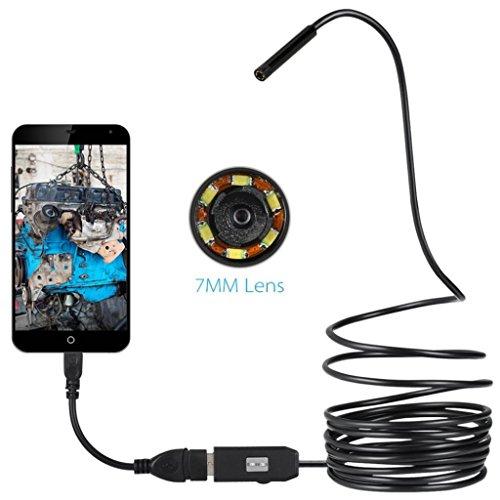 Brave669 6LED 7mm Lens Endoscope IP67 Waterproof USB Cable Camera for OTG Smart Phones