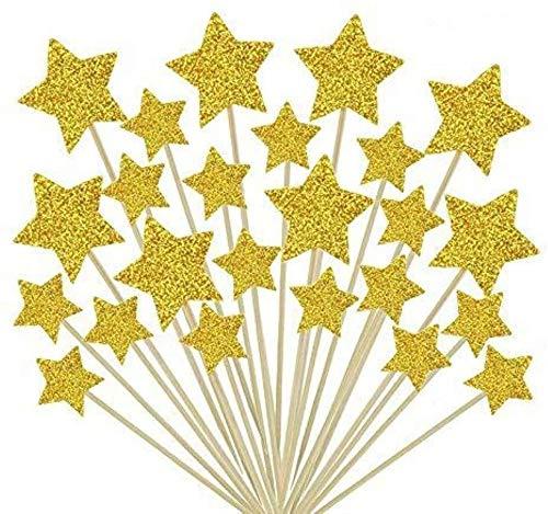 Cake Decorating Toppers,50 Pack Estrellas para Decoración Decoración para Pasteles Decorativos para...