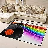 Area Rug Rugs Carpet Music Vinyl Deskfor Living Room Bedroom 63'x48'inches