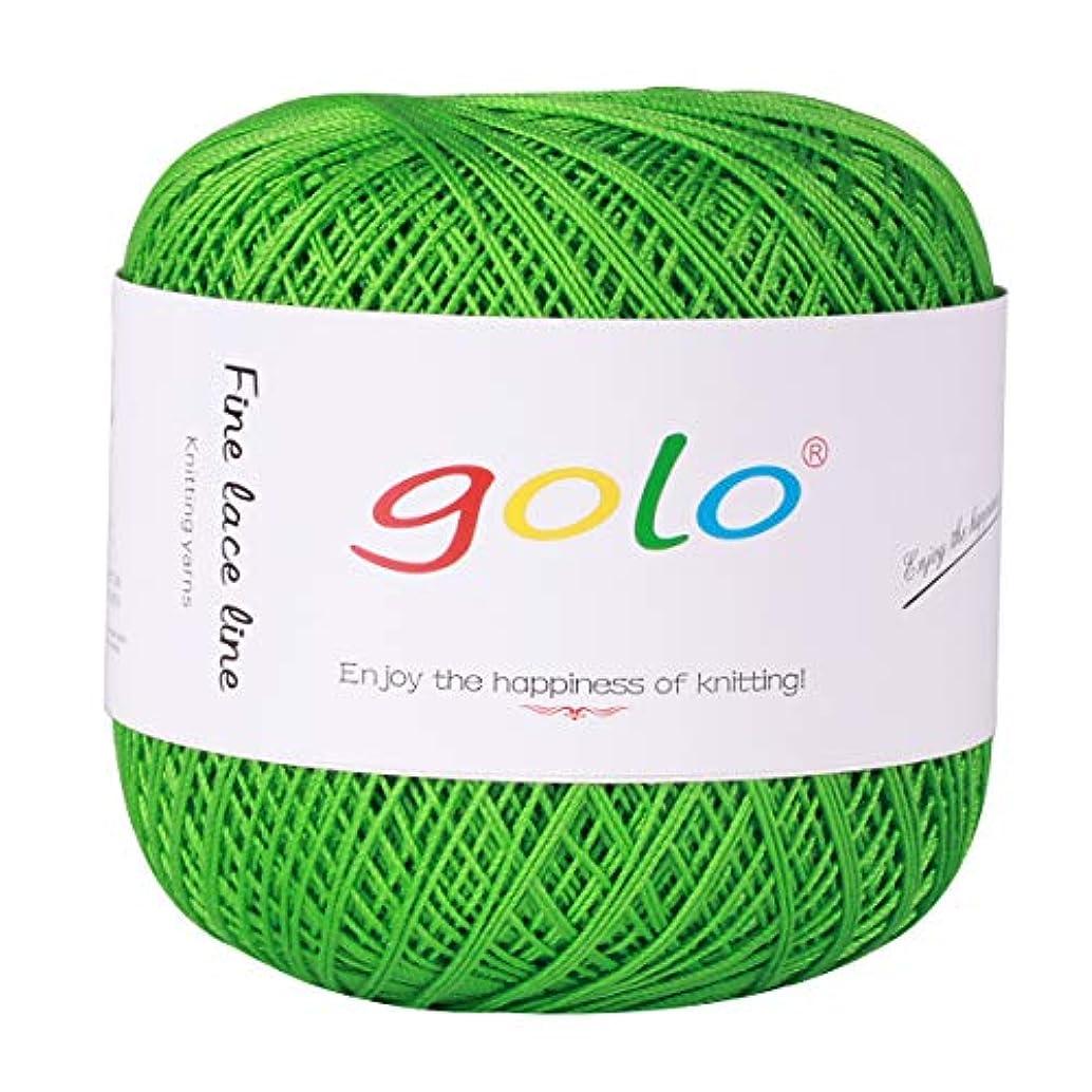 Crochet Thread Yarns for Begingers Size6-100% Contton Yarn for Knitting Crochet DIY Hardanger Cross Sitch Crochet Thread Balls Rainbow Turquoise 39 Colors Avilable (Green)