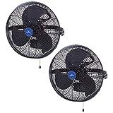 iLiving ILG8E18-15 18' Wall Mounted Adjustable Outdoor Waterproof Fan (2 Pack)