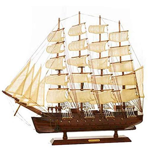 ZHAOYONGBING Qualitäts-Holzschiff Segelschiff Modell Raumdekoration Handgemachte Fertigkeiten Geburtstagsgeschenk