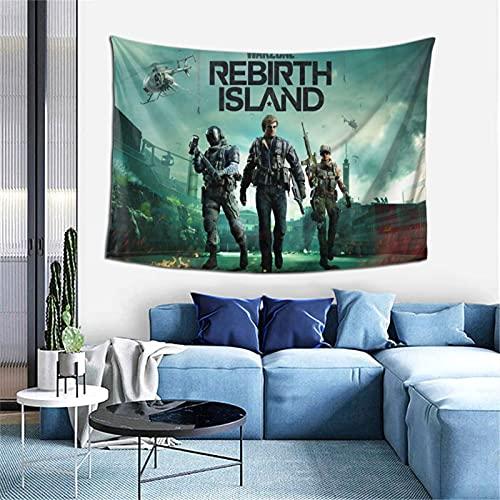 Tapiz para colgar en la pared Call of Duty Warzone de listado de armas para dormitorio, decoración de la pared del hogar, manta de playa de 100 x 152 cm