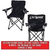 VictoryStore Outdoor Camping Chair - Custom Last Name Folding Chair- Black Camping Chair with Carry Bag (1)