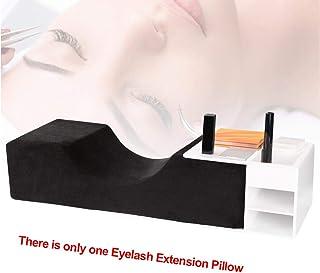 Almohada de extensión de pestañas, cojín ergonómico de espuma viscoelástica para perfeccionar el cojín de pestañas, reposacabezas impermeable en forma de U (negro)