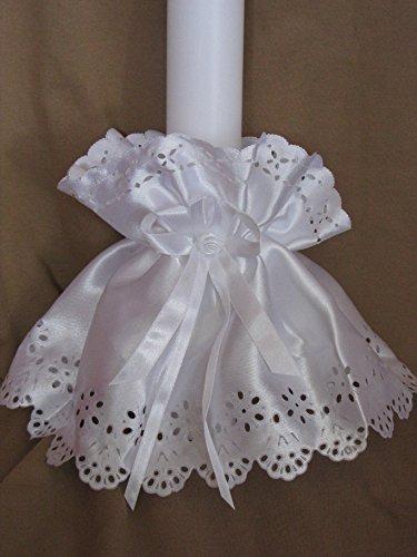 ♥♥ Kerzenröckchen ♥♥ Kerzenrock für Taufkerzen/Kommunionkerzen ; 3-5 cm ; S 9