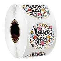MIYU 500枚/ロール10種類の花あなたステッカー用のシール・ラベルスクラップブッキングクリスマスStickeデコレーションステッカー文房具ステッカーをありがとう (Color : 21, Size : 500pc)