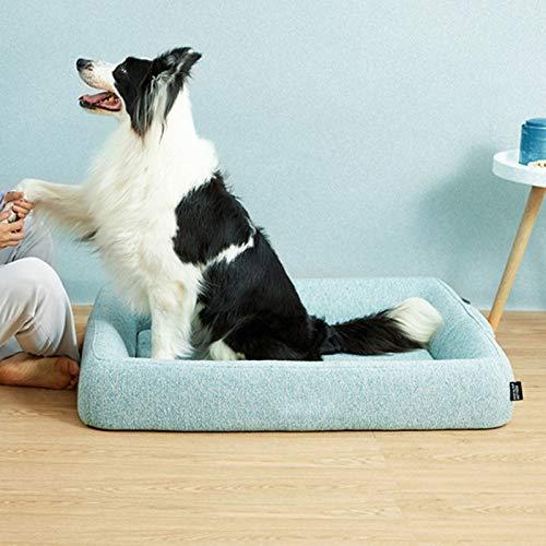 Sueño Mejorado Cama Perro Espuma De Memoria Cómodo Cama Para Gato,Lavable Sofá Cama Perro Sostenible No-resbalón Cama Para Mascotas Para Cat Estrecho Perros Medianos Cama Para Masc-Un 51*39*10.5cm(20*
