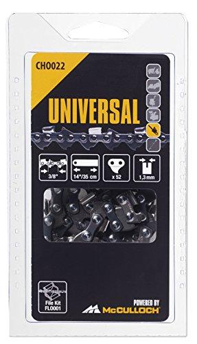 "Universal 5055134-22/4 CHO022 Cadena de sierra para motosierra, 14\""/35cm 3/8\"" 52p, optimo afilado, mantenimiento sencillo, accesorios McCulloch, Standard"