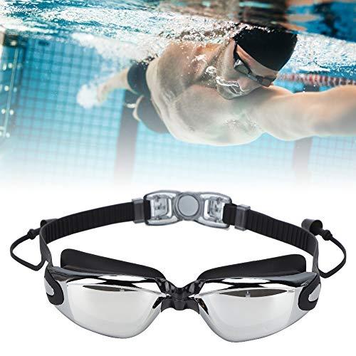 Weikeya Nuotare Occhiali, Anti-Nebbia Nuoto Occhiali Specchio Superficie Insieme a Pc+Silicone Silicone Lente Squillo