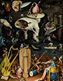 """Hieronymus Bosch LARGE Notebook #9: Cool Artist Gifts - The Garden of Earthly Delights Hieronymus Bosch Notebook College Ruled to Write in 8.5x11"""" LARGE 100 Lined Pages"""