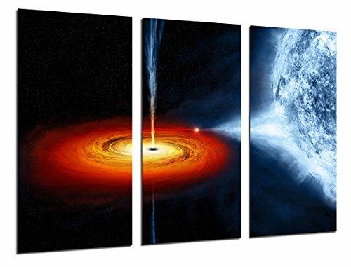 Cuadros Camara Poster Fotográfico Astronomia Agujero Negro, Espacio, Planeta, Estrella Tamaño total: 97 x 62 cm XXL, Multicolor