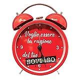 Mood Sveglia San Valentino con Frase d'Amore - Dimensioni 12x10 cm...