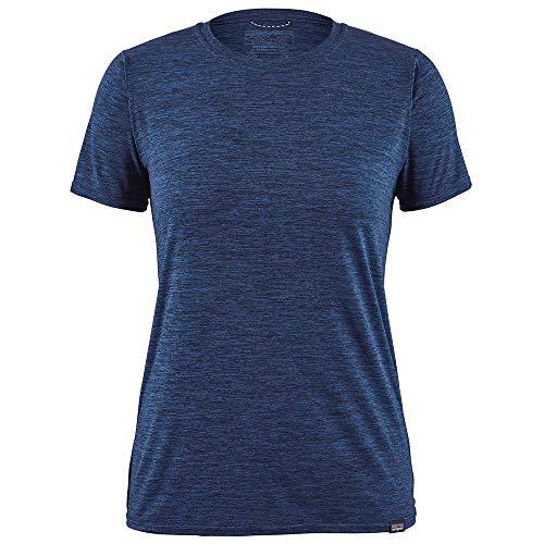 Patagonia W's Cap Cool Daily Shirt Femme, Bleu (Viking Blue-Navy Blue x-Dye), L