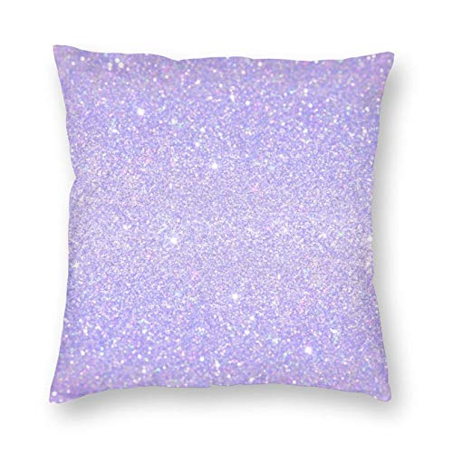 Purple Throw Pillow Cover 18x18 inches Shiny Violet Color Pillowcase Square Soft and Durable Home Decoration Pillow Cover Garden Living Room