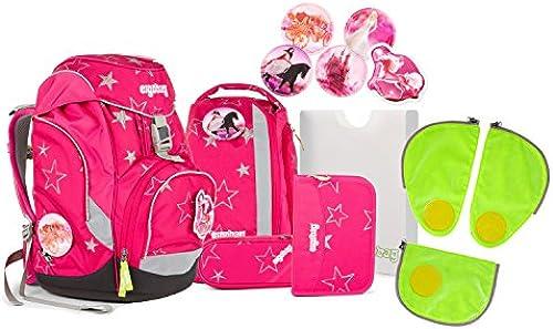 Ergobag pack - Schulrucksack Set 6 tlg. CinB lla inkl. Sicherheitssets in Grün
