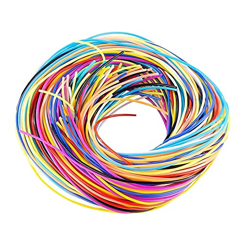 Xzbling 96pcs Ficelle De Tressage De Cheveux Ficelle Colorée, Chaîne De Cheveux en Plastique pour Tresses Dreadlocks, Cordes De Cheveux De Fil De Tressage De Cheveux De Style Coloré De Bricolage