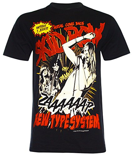 Unisex's Sebastian Bach The Skid Row T-Shirt (Black,M)