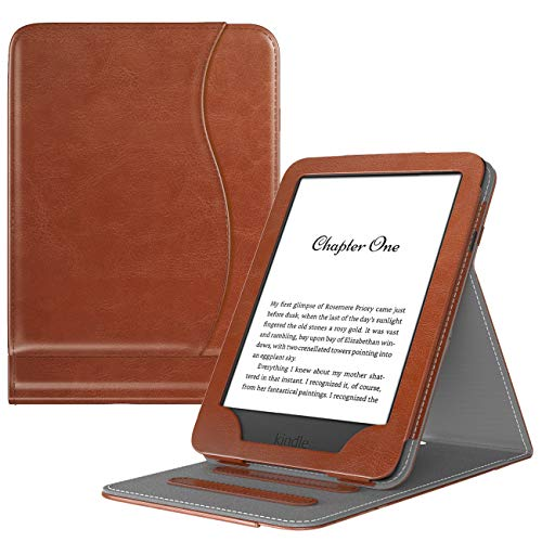 TiMOVO Case Fit All-New Kindle (10th Generation, 2019) / Kindle (8th Generation, 2016), Vertical Multi-Viewing Stand Wallet Cover Auto Sleep/Wake Case, Not Fit Kindle Paperwhite - Brown