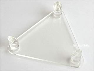 Deluxe Acrylic Ball Stand - Holds Football, Basketball, Volleyball, Bowling Ball or Soccer Ball - Display Stand or Holder
