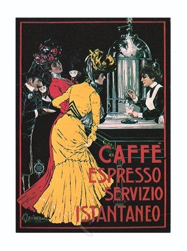Caffe Espresso Servizio Istantaneo by V. Ceccanti. Art Print Poster (18 x 24)