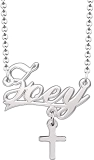 CLY Jewelry Cross Pendant Customized Jewelry for Women Girls Personalized Name Necklace