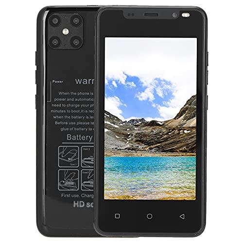 Smartphone, Potente Procesador Cámaras Duales Delanteras Traseras 128 GB Almacenamiento Ampliable Pantalla De 4,66 Pulgadas Smartphone para 4.4.2(Negro)