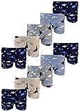 LOREZA ® 10er Pack Jungen Boxershorts Dinosaurier Motiv aus Baumwolle (116-122 (6-7 Jahre), 10er Pack)