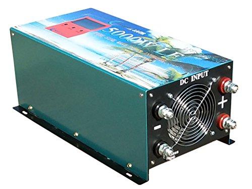 Versión mejorada Inverter Converter 5000w/20000w 24V Inversor Onda Pura to AC 230V,LCD,Cargador 80A Convertidor 24v