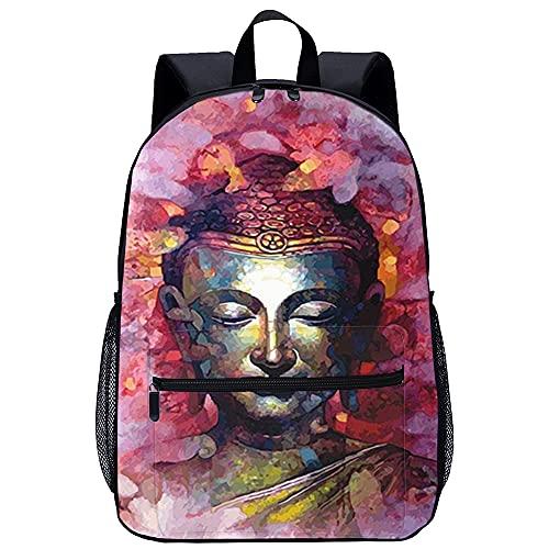 LTXMZ 3D Sacchetti di Scuola per Zaino Scuola Bambino Buddha zen religion da viaggio unisex di moda Borsa da scuola Dimensioni: 45x30x15 cm/17 pollici Zaino Studenti