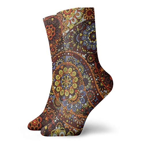 aswr852 Traditional Pattern Silk Headscarf Sample Novelty Funny Crazy Crew Sock Cool Unisex Sport Athletic Socks 30cm Long Personalized Gift Socks