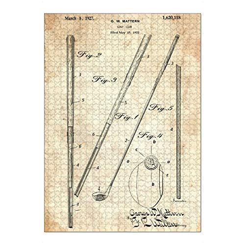 artboxONE Ravensburger-Puzzle XL (1000 Teile) Sport Golfschläger (Antik) - Puzzle golfschläger patent Golf